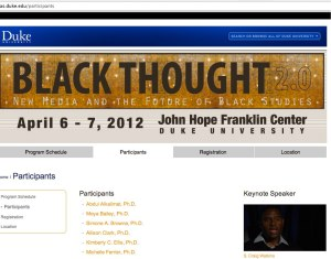 Screen Shot of Black Thought 2.0 Conference website