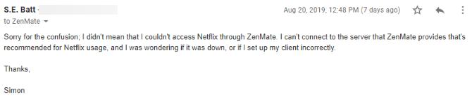 ZenMate VPN Review: Méditer sur votre vie privée ZenMate Review Support Third 1