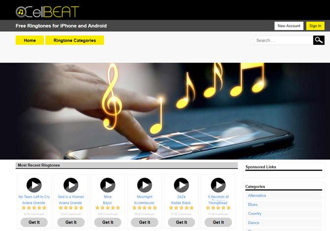 Trouvez des sonneries funky pour iPhone sur CellBeats