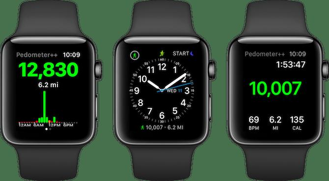 Apple Watch Fitness Apps Podomètre ++