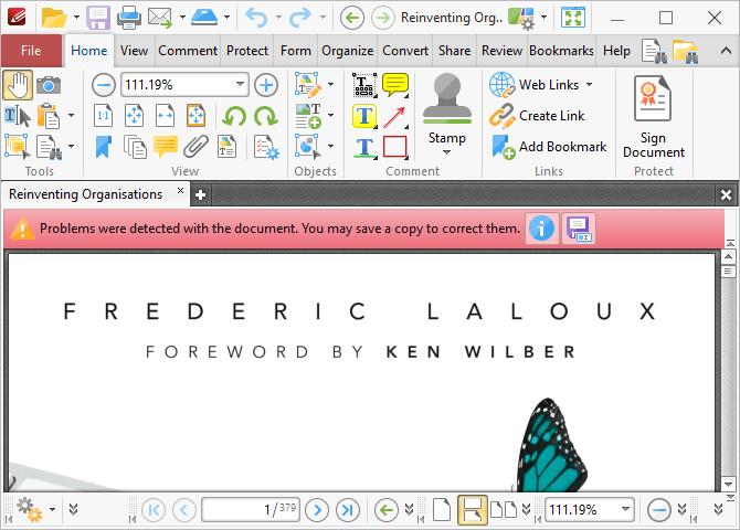 Ceci est une capture d'écran de PDF-XChange Editor