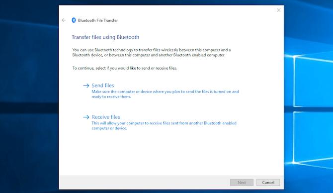 envoyer des fichiers via Bluetooth