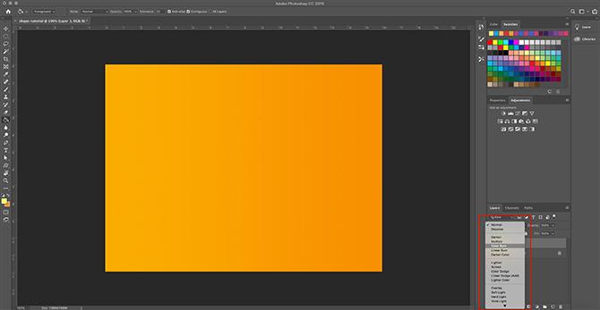 Comment utiliser l'outil de forme personnalisée Photoshop Appliquer un dégradé