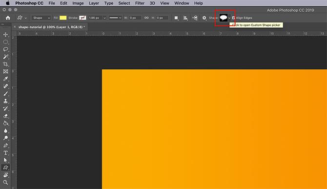 Comment utiliser l'outil de forme personnalisée Photoshop Choisissez une nouvelle forme