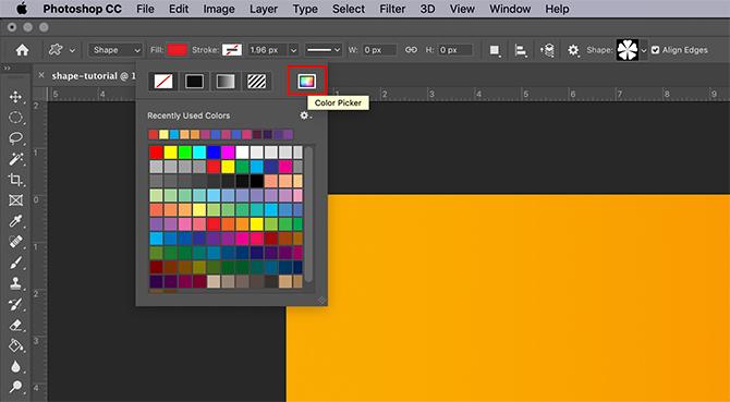 Comment utiliser l'outil de forme personnalisé Sélecteur de couleurs Photoshop