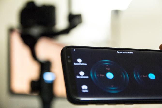 Télécommande de l'application mobile Moza Air 2 Gimbal