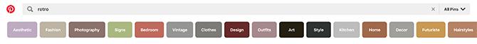 Qu'est-ce que la barre de recherche Pinterest