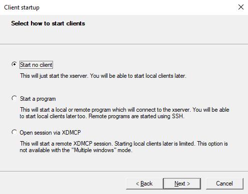 Konfigurieren Sie einen X-Server unter Windows