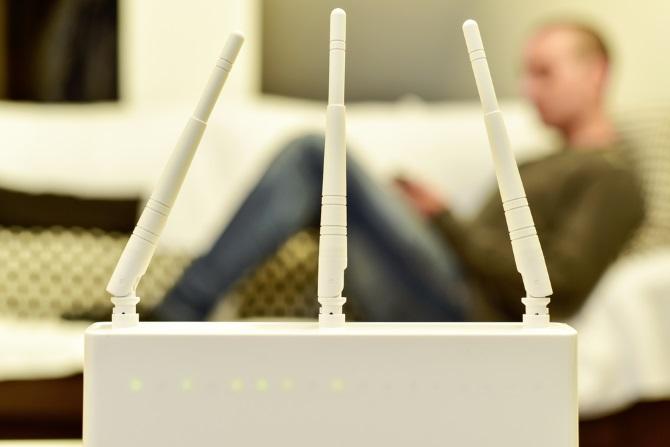 Ein Router, der das Upgrade von WEP darstellt