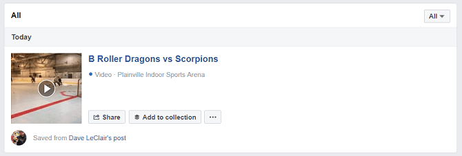 facebook vidéos enregistrées