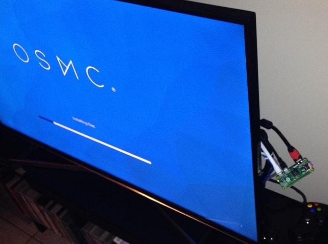 OSMC läuft auf einem Raspberry Pi Zero