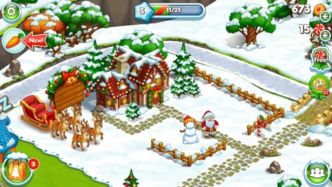 Capture d'écran de Happy New Year Farm Christmas pour Android