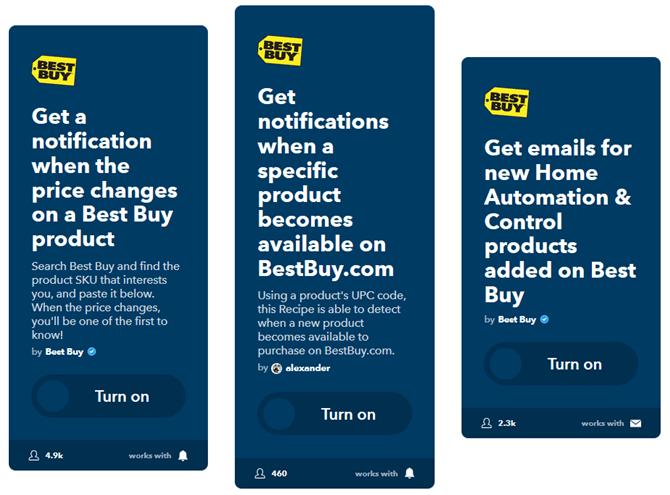 ifttt tricks online deals best buy