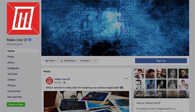 Profil photo Facebook Taille