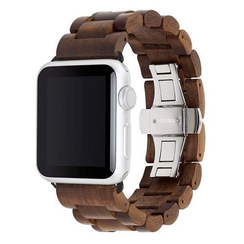Bracelet Apple Watch en bois dur AYIBEN