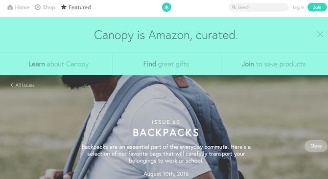 Amazon Sites und Tools - Baldachin