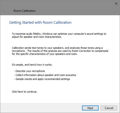 Windows-10-Raum-Kalibrierung