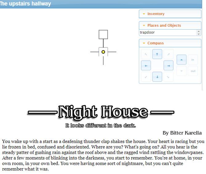 Textbasierte Spiele - Night House