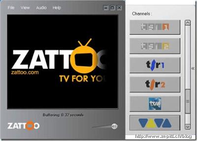 Zattoo - IPTV