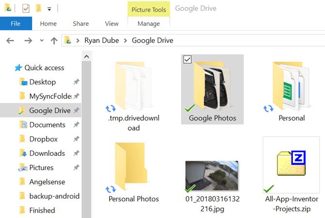 Google Fotos-Ordner auf dem Desktop