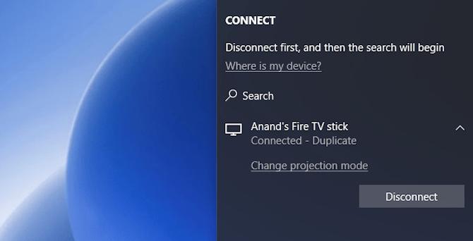 So projizieren Sie Windows 10 mit Miracast auf TV Trennen Sie Miracast