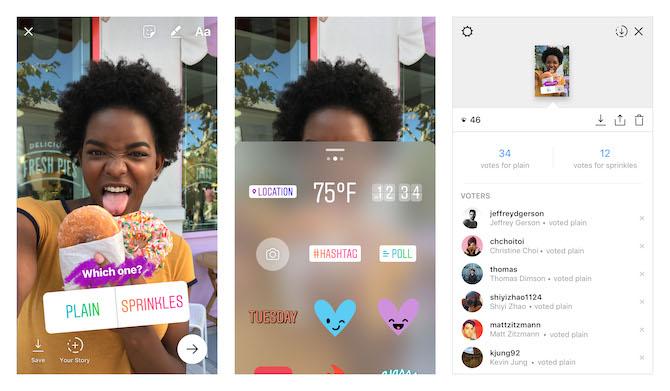 Nehmen Sie an Umfragen auf Instagram Stories teil