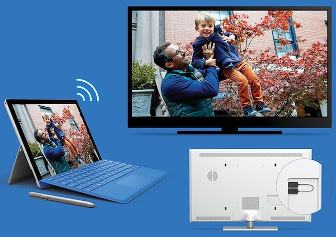 So projizieren Sie Windows 10 mit Windows 10 Miracast Miracast Adapter auf TV