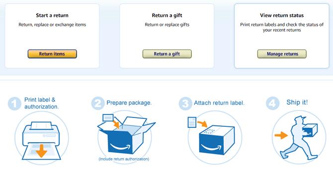 amazon gibt die mittlere Homepage zurück