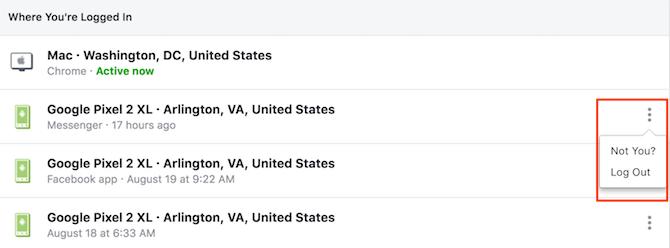 So melden Sie sich remote von Ihren Facebook-Social-Media-Konten ab Remote-Abmeldung