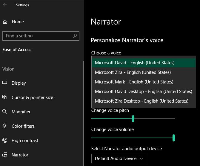 Windows-Change-Narrator-Voice
