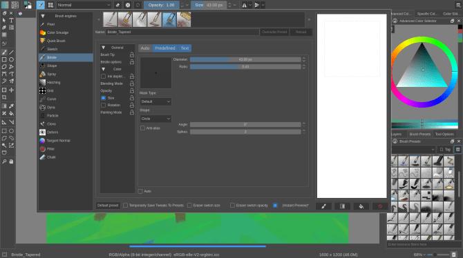 wie man Krita vs GIMP - Pinsel benutzt