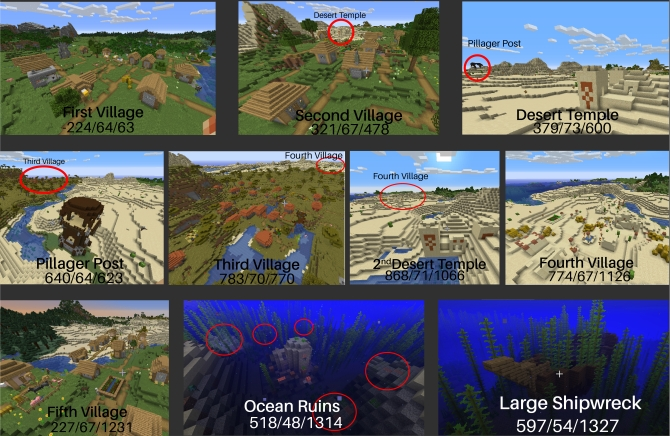 minecraft graine 5 villages