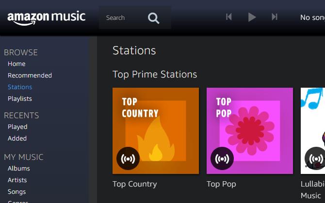 Amazon Prime Music Player Web