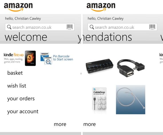 Anwendung Amazon Store