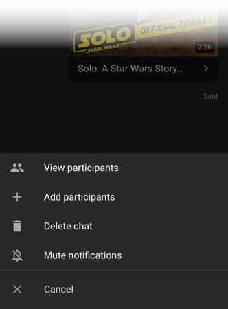 YouTube-Überlaufmenü