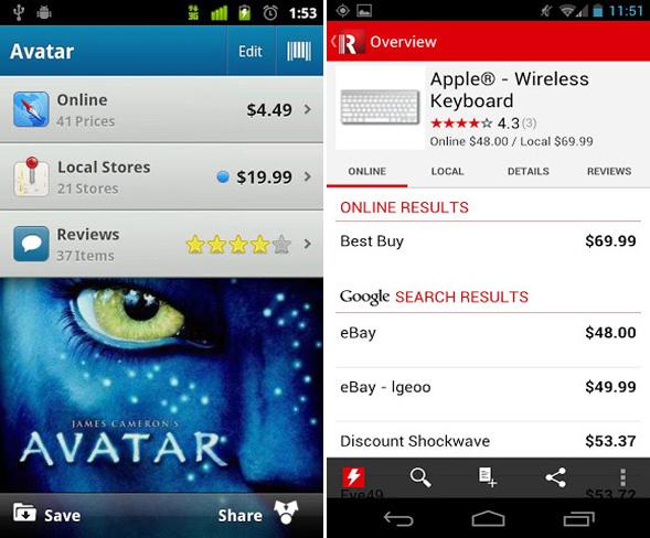 kostenlose Shopping-Apps für Android