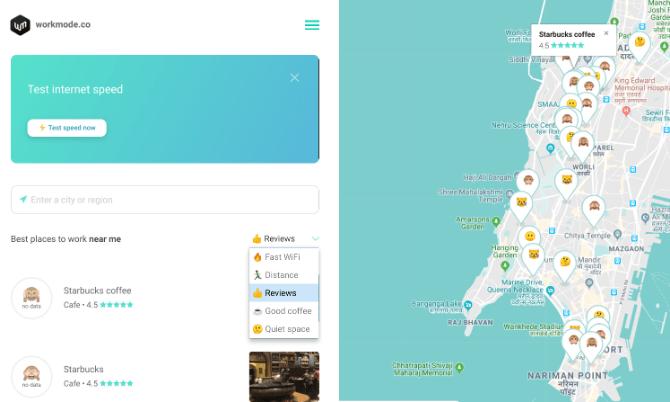 Mit WorkMode finden Sie überall auf der Welt ein Wi-Fi-Café
