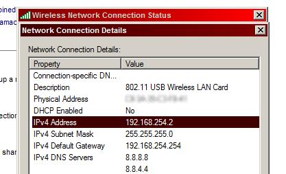 Wählen Sie die Internetverbindung