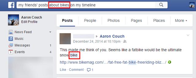 3.2 Recherche de graphiques Facebook - Messages d'amis
