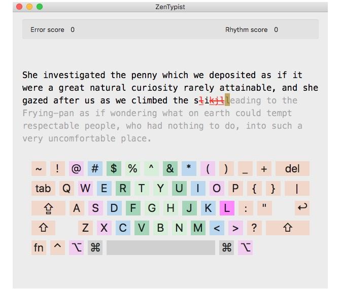 ZenTypist Typing App für Mac