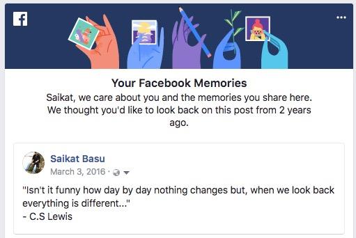 Souvenirs Facebook
