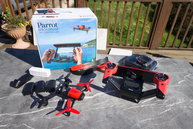 drone bebop et contrôleur ciel - package