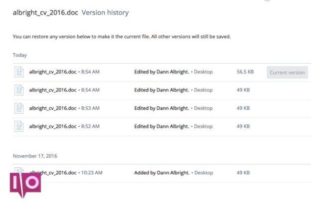 5 conseils Dropbox pour en savoir plus sur l'historique des versions de Dropbox