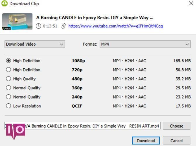 Télécharger la qualité vidéo YouTube