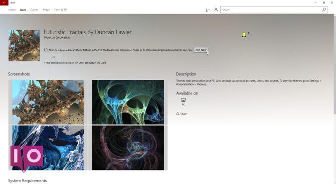 thème fractales futures windows 10