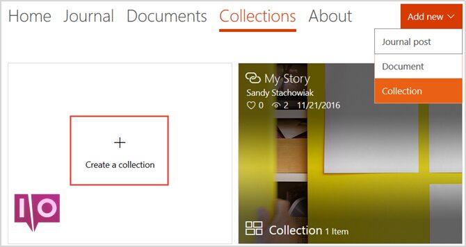 docs.com ajouter une nouvelle collection