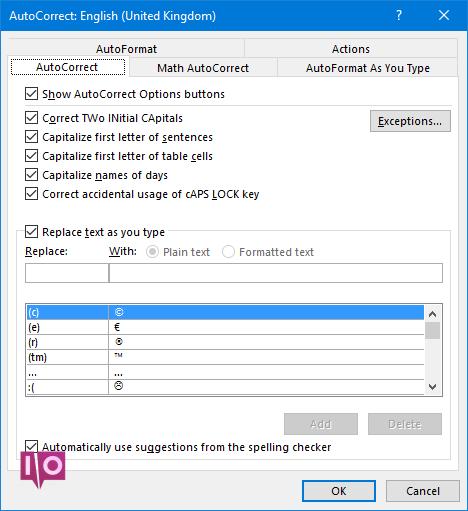Microsoft Word - Correction automatique