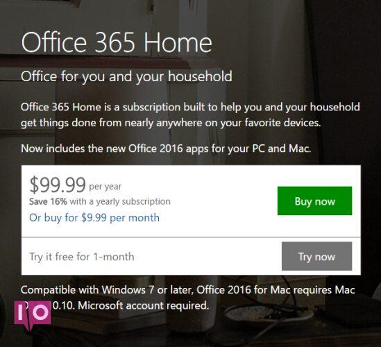 Office 365 Acheter