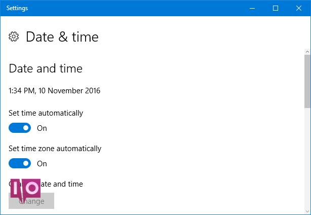 date et heure de Windows 10