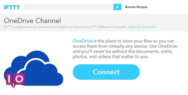 Le canal OneDrive IFTTT